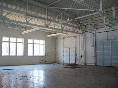 warehouse before epoxy floor coating