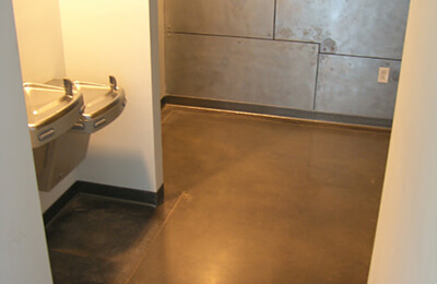 Stained and Polished Concrete Flooring