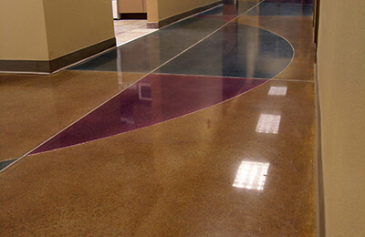 Concrete Stain Application for Schools & Cafeterias