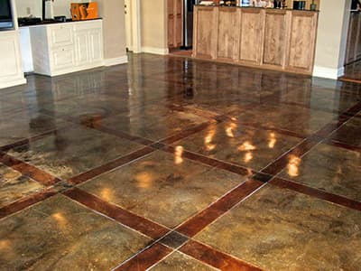 Concrete Stain Lication Services Stained Floors